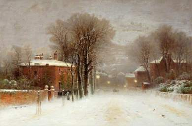 Winter Scene, Hampstead Heath, Robert Finlay McIntyre (c.1846–1906)