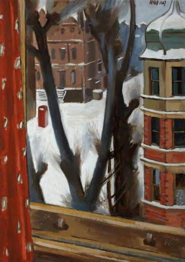London Street in Snow, Charles James McCall (1907–1989)
