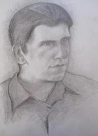 Pete, July 1997, pencil on A3 paper