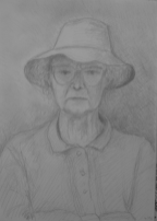 Tessie, April 1996, pencil on paper