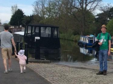 At 12th Lock - rare sighting of boats!