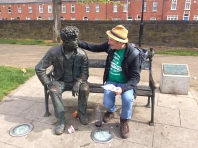 Chatting to Brendan Behan, Monday morning