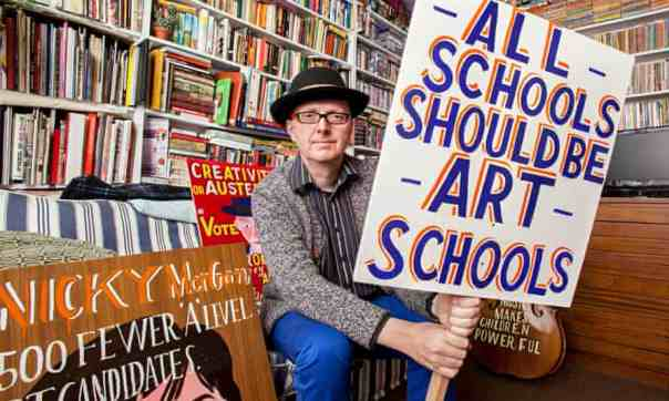 "The Observer, interview, 23 August 2015: ""Soon there won't be any kids with estuary accents in art schools."" Photo: Rob Greig."