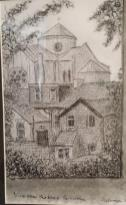 VIEW FROM THE BACK, PARKSTONE │ 2012 │ Pen and ink on A4 paper