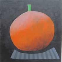 With 9-year-old grandson Jay │ PUMPKIN │ 2019 │ 50 x 50 cm │ Acrylics and oils on canvas
