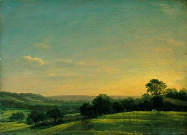 Dedham Vale, evening / John Constable
