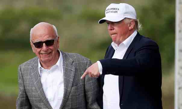 Donald Trump and Rupert Murdoch. Photograph: Carlo Allegri/Reuters