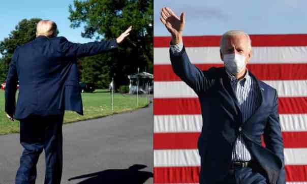 Donald Trump and Joe Biden. Photograph: Jim Watson/AFP/Getty Images
