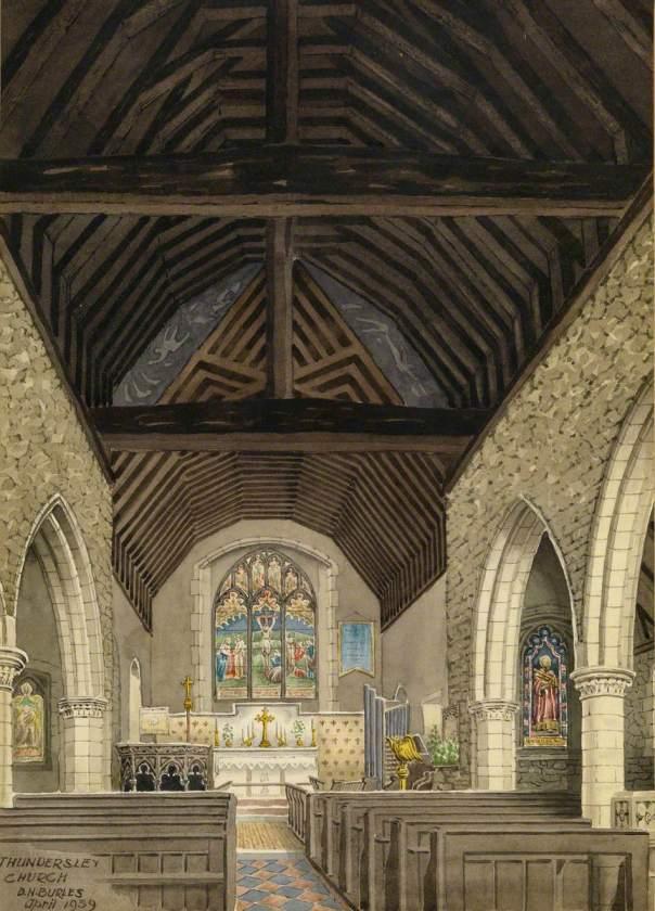 Thundersley Church (interior) │ D.H. Burles (active 1904–39) │ Beecroft Art Gallery