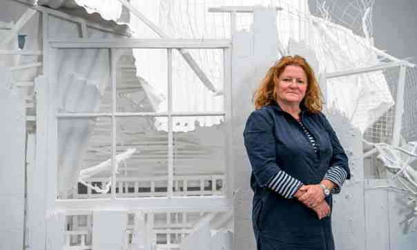 Rachel Whiteread with Doppelgänger. Photograph: Jill Mead/The Guardian