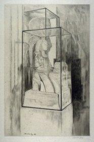 'The Encased Statue,' 1913. Drypoint, 34.7 x 22.7 cm