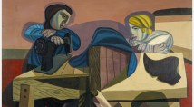 Robert MacBryde, Two Women Sewing, c.1948. Scottish National Gallery of Modern Art