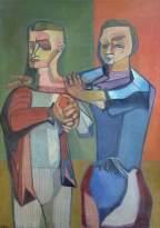 The Spectators. Robert Colquhoun, 1949. Oil on canvas, 126 x 89 cm. New College, University of Oxford