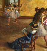 The Ballet Class, Hilaire-Germain-Edgar Degas. Oil on canvas, about 1880. (Picture: Philadelphia Museum of Art)