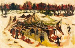 A Covering for a Gun Site, 1942. Oil on panel, 44.4 x 67.9 cm. IWM (Imperial War Museums)