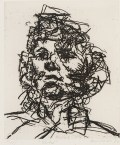 Frank Auerbach, Jake, 1990, etching on paper, 20 x 16.5 cm, © Frank Auerbach