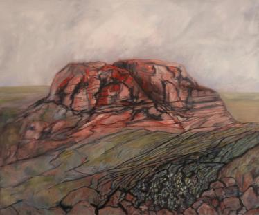 Thor's Stone, Thursaston. Oil on canvas