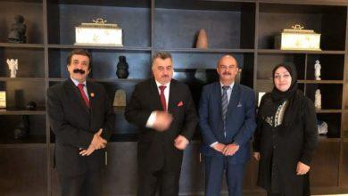 Photo of السفير عمر البرزنجي يستقبل وفد الاتحاد العربي للإعلام الالكتروني