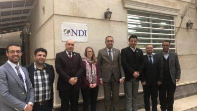 Photo of وفد مجلس المفوضين يزور مقر منظمة NDI في اربيل