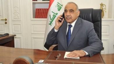 Photo of رئيس مجلس الوزراء السيد عادل عبدالمهدي يتلقى اتصالا هاتفيا من وزير الخارجية البريطاني