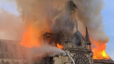 "Photo of السيطرة على حريق كاتدرائية نوتردام و""إخماده جزئياً"""
