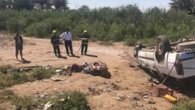 Photo of مصرع وإصبة 7 أشخاص بإنقلاب سيارتهم على طريق واسط – بغداد