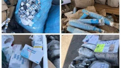 Photo of الكمارك …اتلاف ادوية بشرية منتهية الصلاحية ومواد اخرى تالفة في كمرك الشحن الجوي