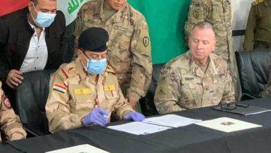 Photo of بالصور.. مراسم استلام قاعدة القيارة الجوية من قوات التحالف الدولي