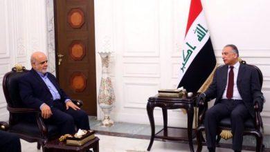 Photo of رئيس مجلس الوزراء السيد مصطفى الكاظمي يستقبل السفير الإيراني في بغداد