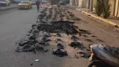 Photo of امانة بغداد اصلاح احد التخسفات الحاكمة في خط تصريف مياه الامطار غربي العاصمة