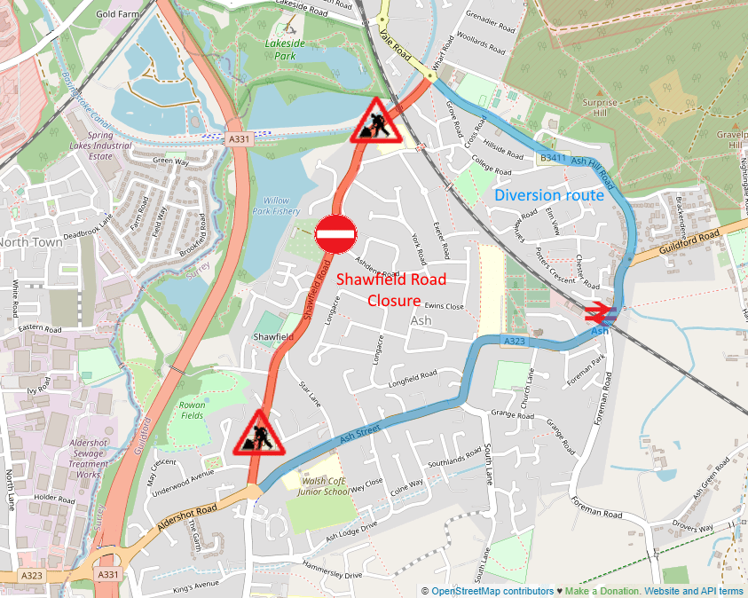 Shawfield Road Closuresbetween 8am and 5pm for the (B3206) Shawfield Road Closures