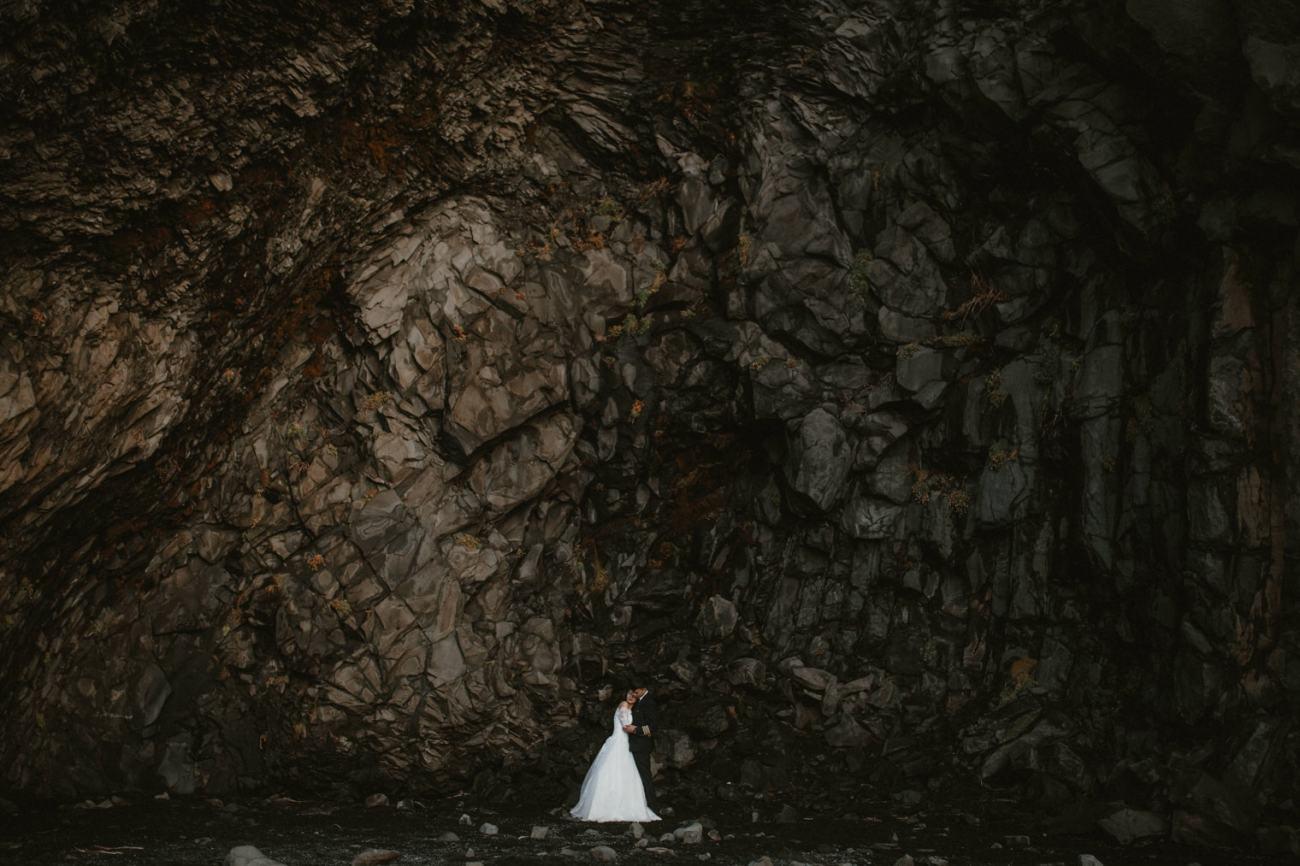 Iceland cave wedding