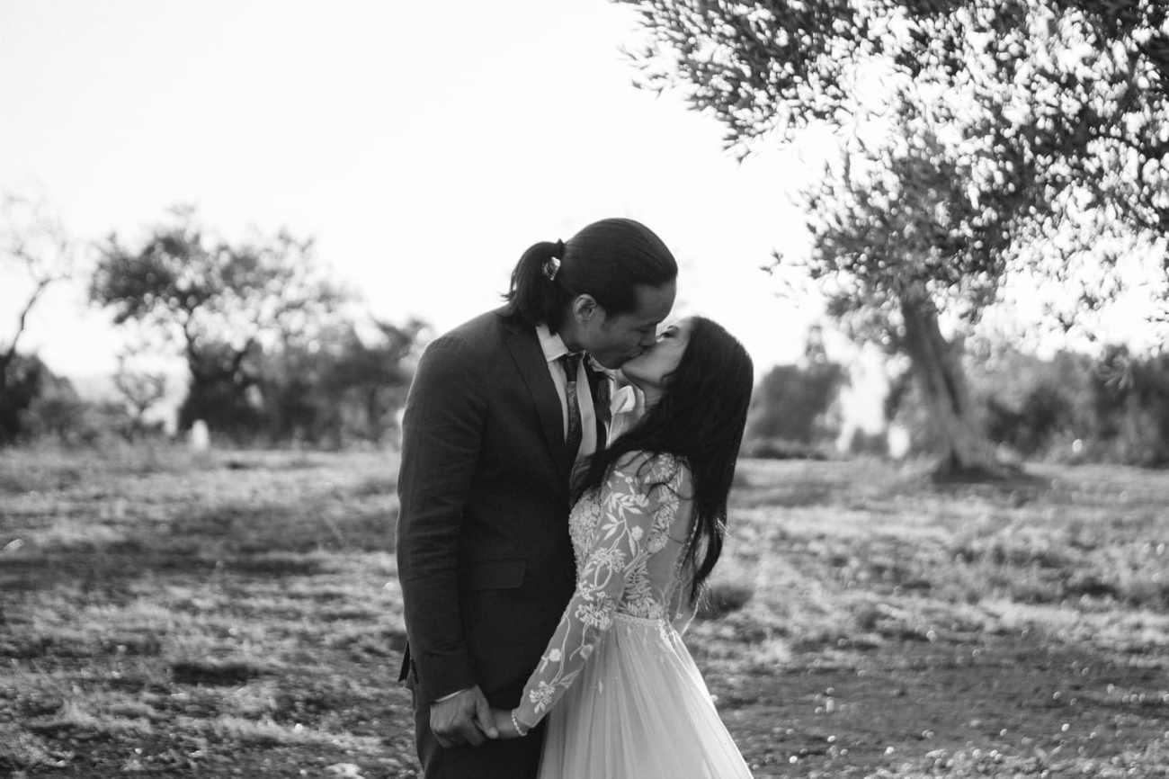 Beautiful moment at Puglia destination wedding