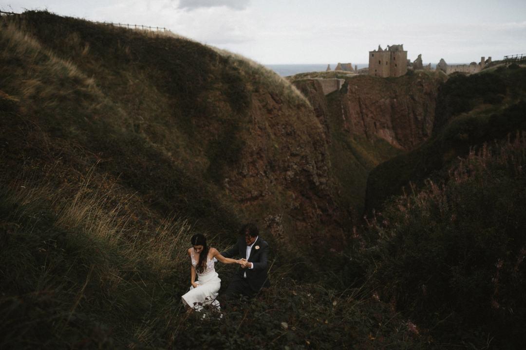 Elopement at Duntottar Castle