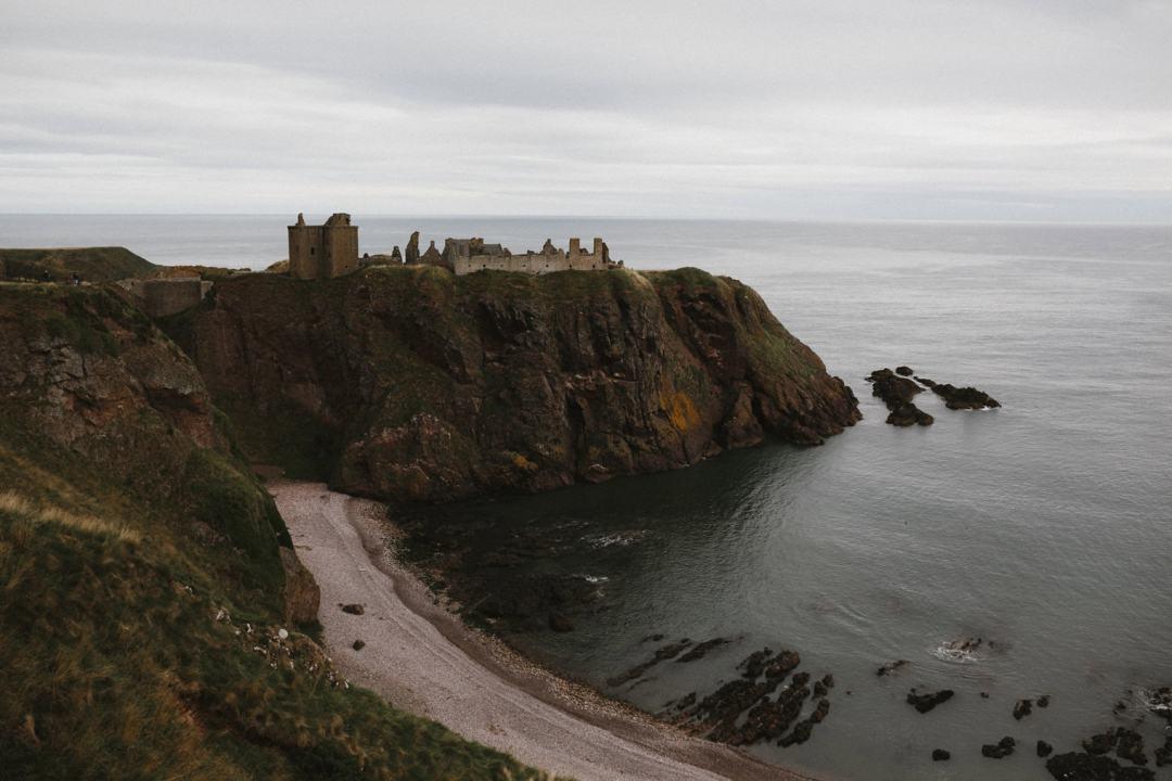 Castle on the cliff, Dunnottar Castle