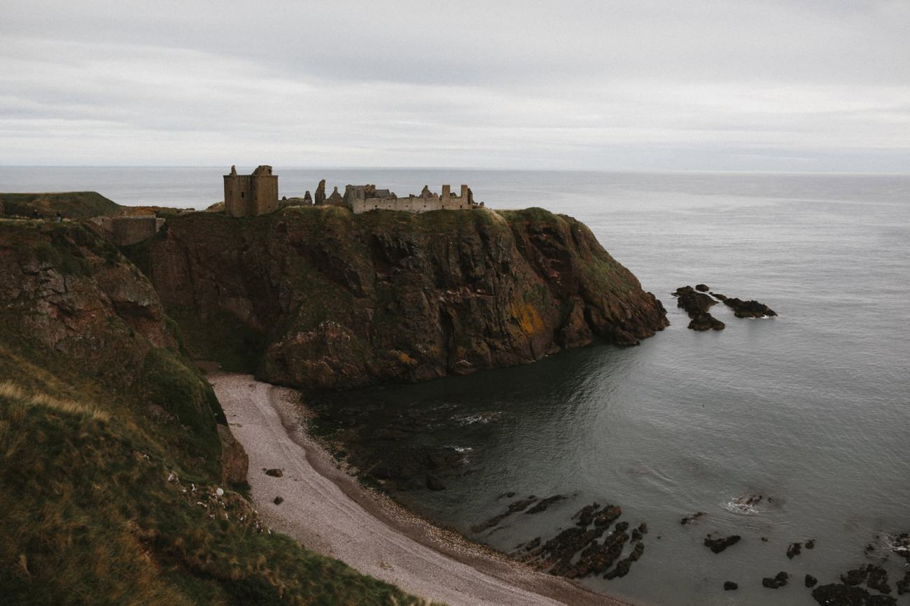 Castle on the cliff, Dunnottar Castle