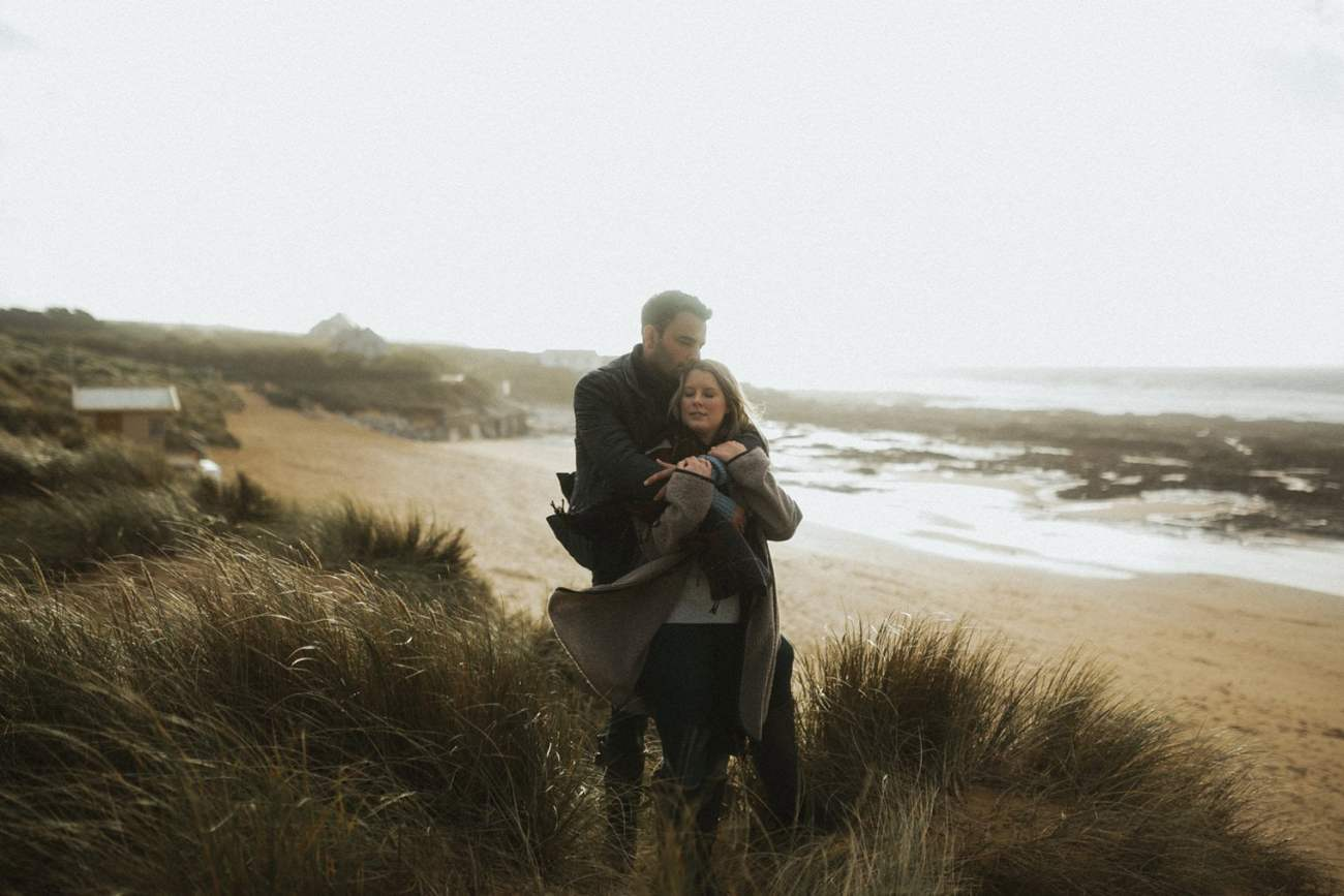 Cornwall Beach Engagement Session at Constantine Bay