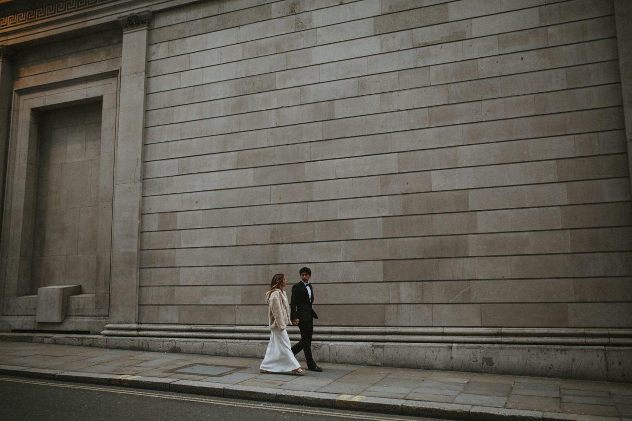 bride and groom wedding portraits in london