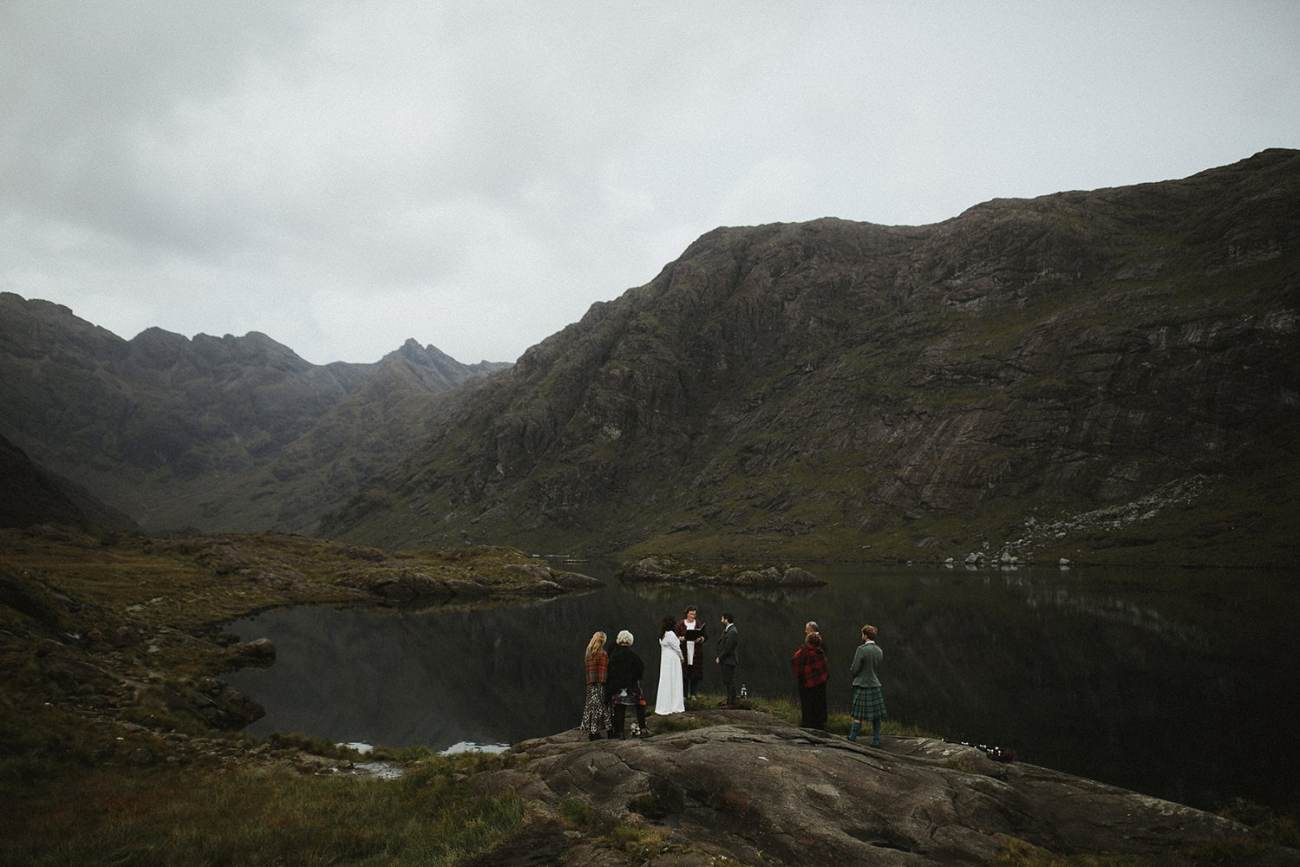 Eloping to Scotland at Loch Coruisk in Isle of Skye, Scotland