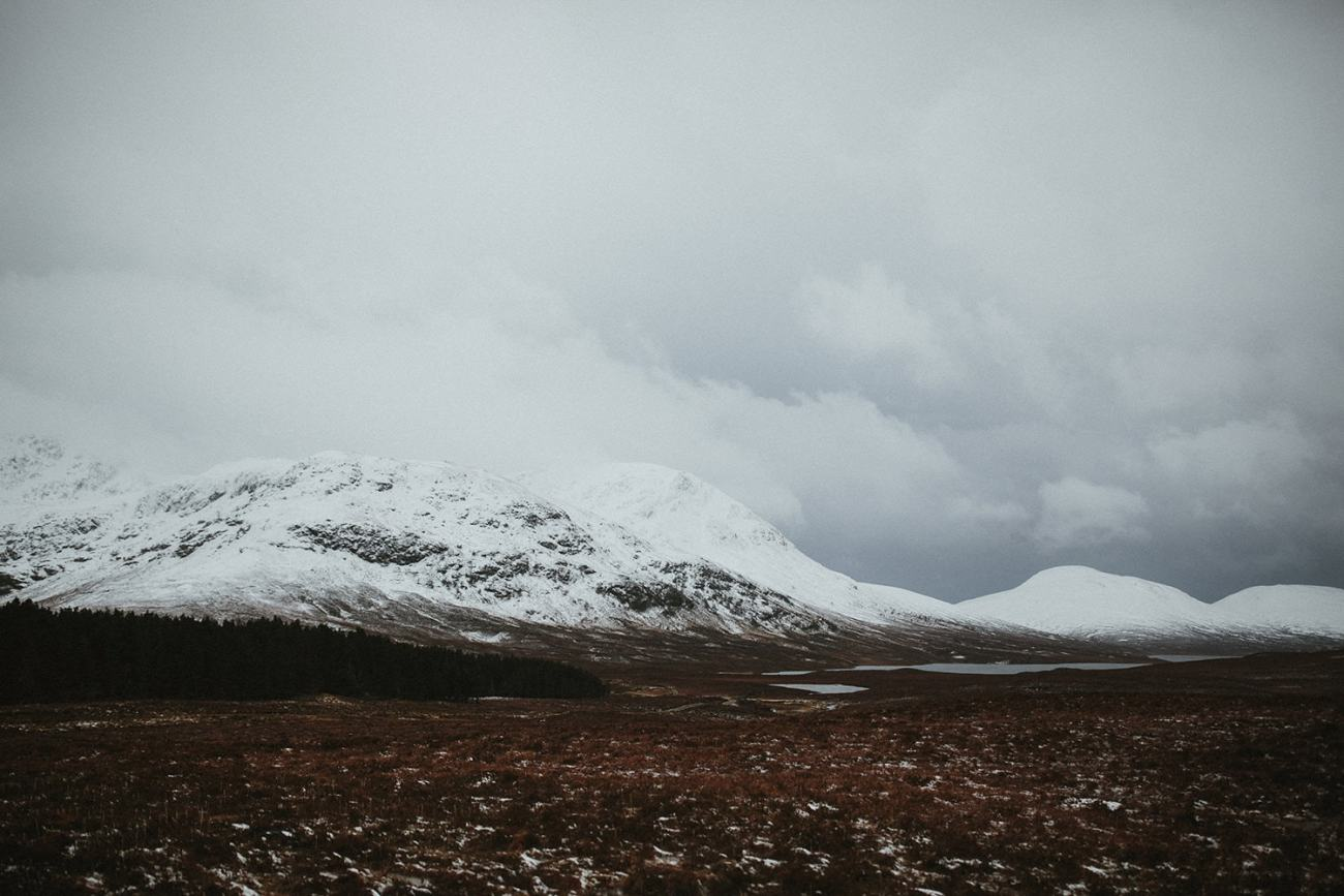 Snowy Mountains in Cairngorms National Park