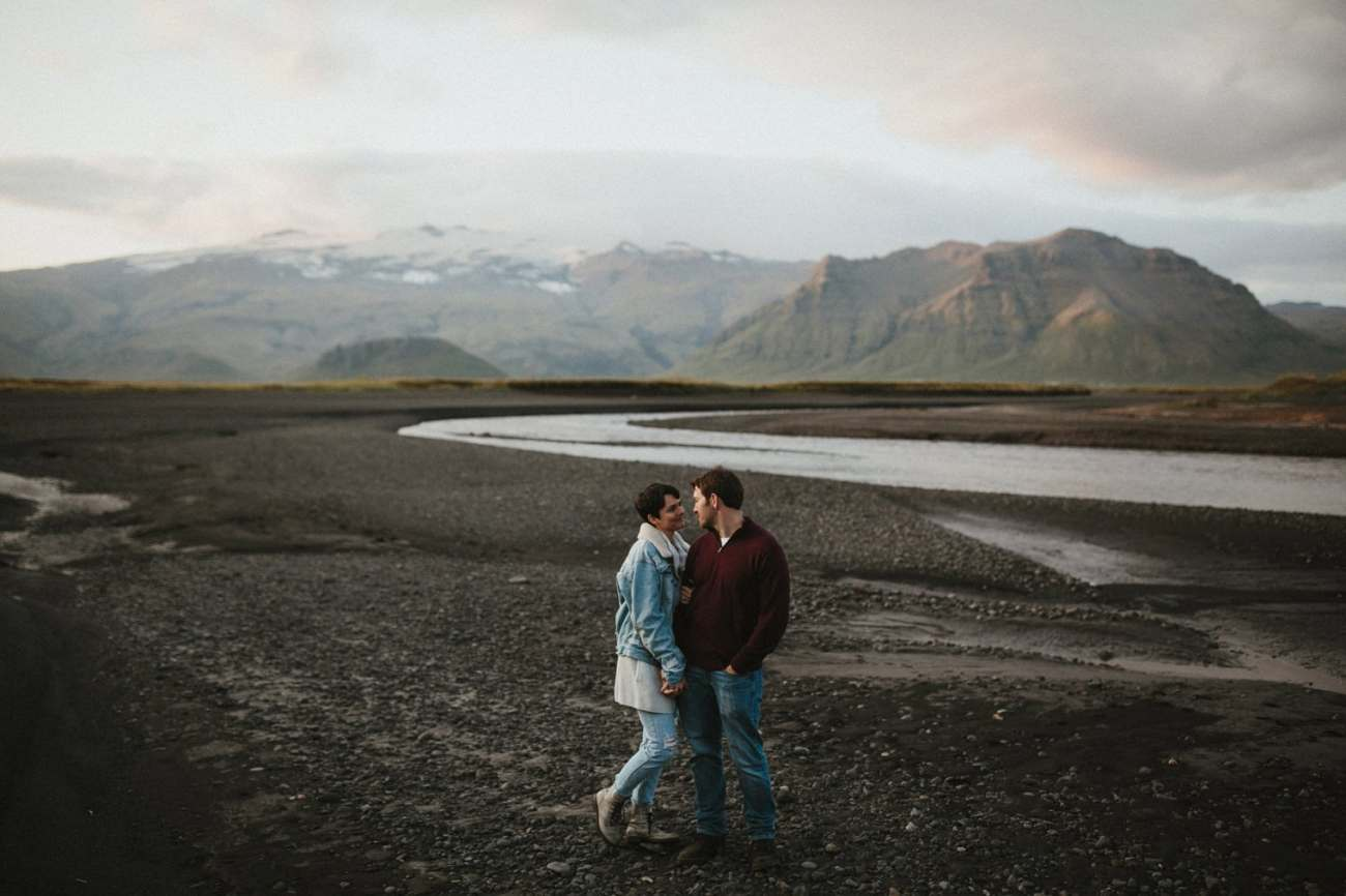 couple during Iceland Engagement session