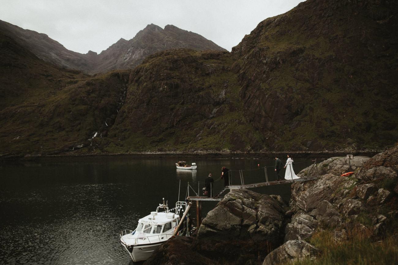 Loch Coruisk wedding boat