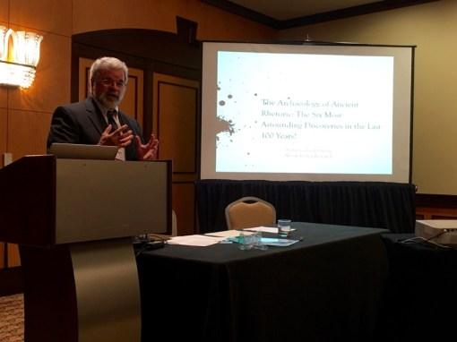 "Richard Enos speaks on ""The Archaeology of Ancient Rhetoric"""