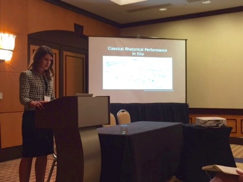 "Allison M. Prasch speaks on """"(Re)(Situ)ating Rhetoric in Place"""