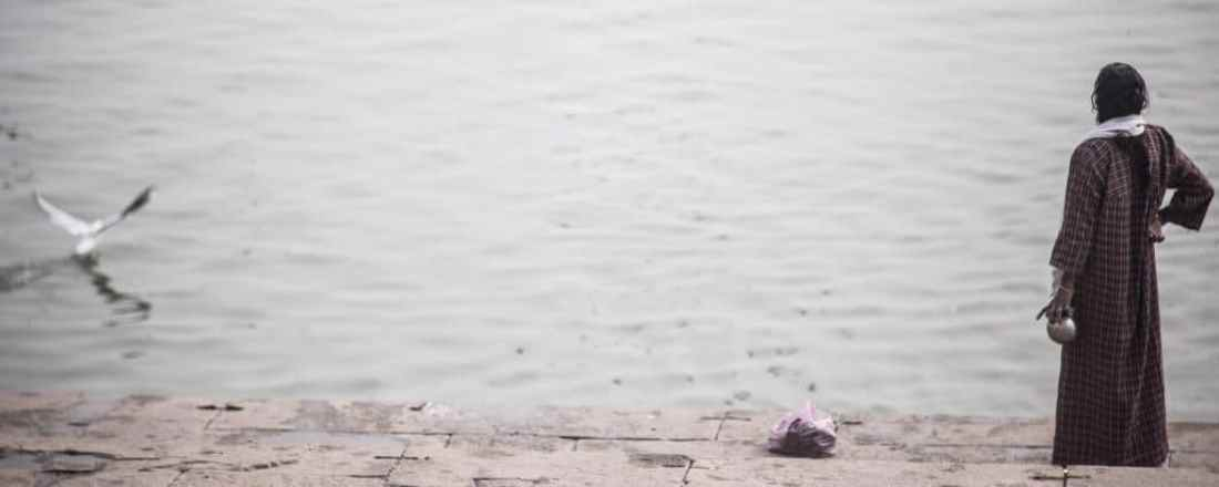 ashtanga yoga okinawa | varanasi | woman | bird | water
