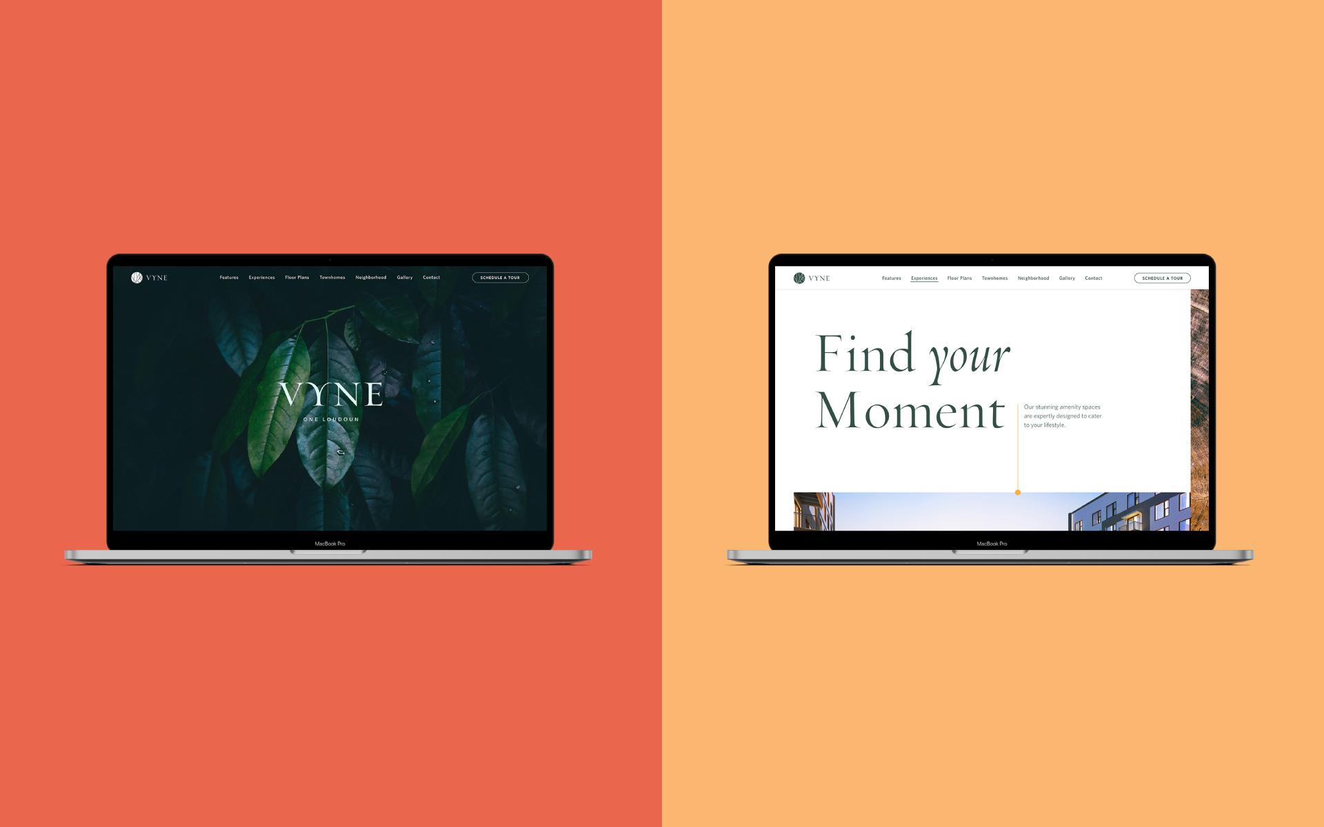 Vyne One Loudoun desktop website