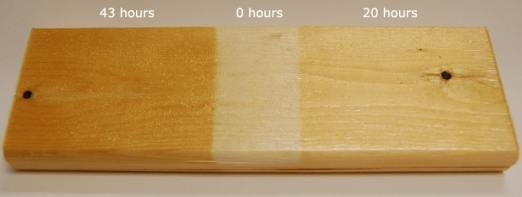 effect of UV on wood