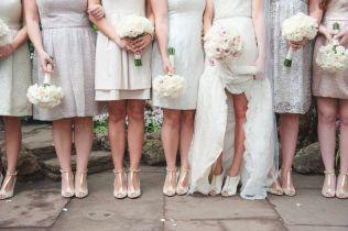 White, Cream and Blush Bouquets