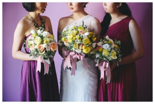 Yellow, Peach and Berry Bouquets