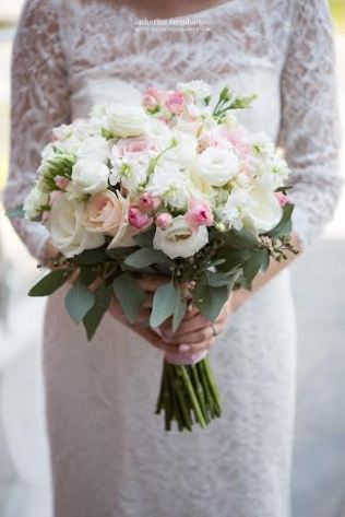 Blush and Ivory Spring Bridal Bouquet